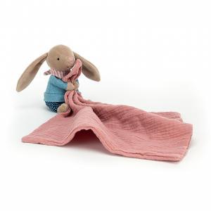 Jellycat - RAMS4BU - Doudou plat lapin Little Rambler - l = 13 x H = 30 cm (457596)