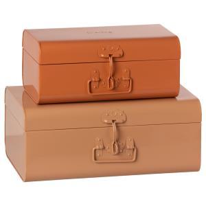 Maileg - 19-1530-01 - Set de 2 valises de rangement - poudre / rose (460900)
