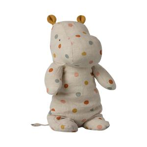 Maileg - 16-1922-01 - Safari friends, Medium Hippo - Pois multicolore - 34 cm (460982)