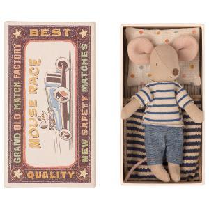Maileg - 16-1733-01 - Souris Grand Frère dans sa boîte à allumettes - 13 cm (461018)