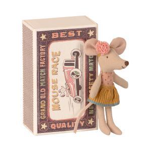Maileg - 16-1726-01 - Souris Petite Sœur dans sa boîte à allumettes - 10 cm (461042)