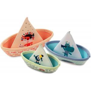 Lilliputiens - 83288 - 3 bateaux de bain JUNGLE (462202)