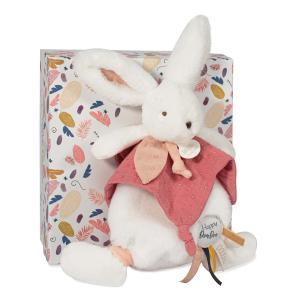 Doudou et compagnie - DC3741 - HAPPY BOHO - Doudou pompon terracotta 25 cm en boîte carton (463284)