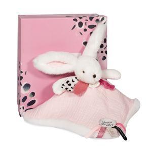 Doudou et compagnie - DC3744 - HAPPY BLUSH - Doudou pompon rose 25 cm en boîte carton (463292)