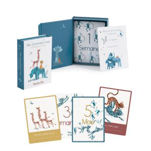 Moulin Roty - 669749 - Cartes Mes 12 premiers mois Sous mon baobab (30 cartes) (465422)