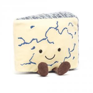 Jellycat - A2BLU - Peluche Amuseable fromage bleu (471608)