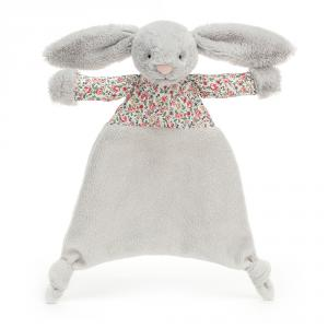 Jellycat - BBC4S - Doudou plat lapin gris clair Blossom Bea (471874)