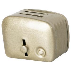 Maileg - 11-1108-01 - Grille-pain miniature & pain - Argent (471974)