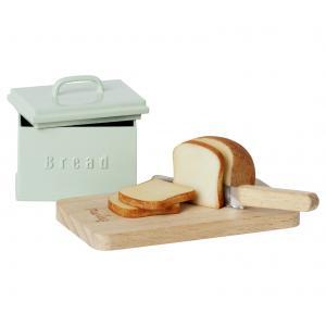 Maileg - 11-1308-00 - Boîte à pain miniature w. planche à découper et couteau (472000)