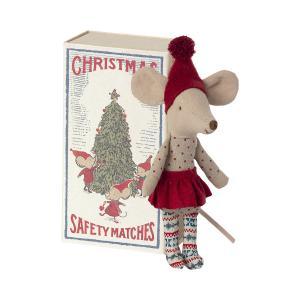 Maileg - 14-1700-01 - Souris de Noël dans la boîte d'allumettes, grande soeur (472084)