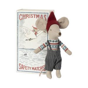 Maileg - 14-1701-01 - Souris de Noël dans une boîte d'allumettes, grand frère (472086)