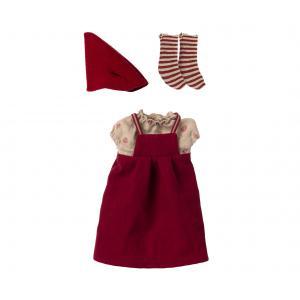 Maileg - 14-1702-01 - Vêtements de Noël, Souris moyenne - Fille (472090)