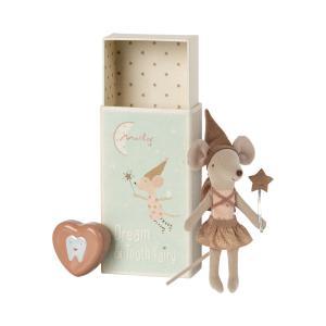 Maileg - 16-1739-00 - Souris fée des dents dans une boîte d'allumettes - Rose (472142)