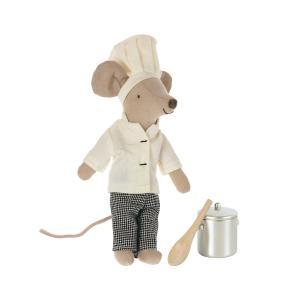 Maileg - 16-1782-00 - Souris de chef w. marmite et cuillère (472148)